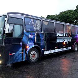 Envelopamento Ônibus - Plotagem de Ônibus para Banda Serrat
