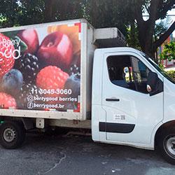 Aplicação de adesivo total com identidade visual Caminhão - Good Berry