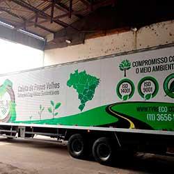 Envelopamento de Tyre Eco- Caminhão Baú