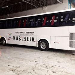 Envelopamento Ônibus Rubineia
