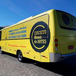 Envelopamento de Micro Ônibus - Circuito Sesc de Artes