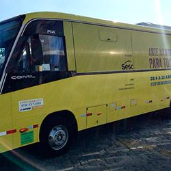 Envelopamento Ônibus Circuito Sesc de Artes 2018