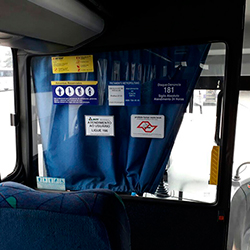 Adesivo ARTESP, assentos reservados, fretamento metropolitano, disque denúncia, ANTT e proibido fumar