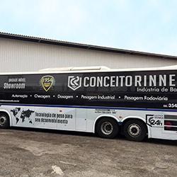 Envelopamento Ônibus - Plotagem de Ônibus para Empresa