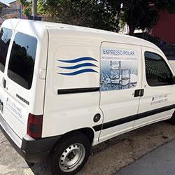 Plotagem de Veículo para Empresa - Expresso Polar