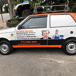Envelopamento de Fiat Uno para empresa Grupo Extrema - Osasco - SP