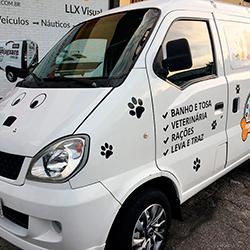 Adesivo em Recorte com Logo Pet Shop