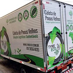 Envelopamento de Tyre - Caminhão