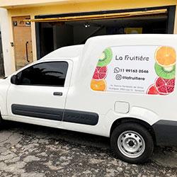 Plotagem de Veículo para Empresa em São Paulo - La Frutiere
