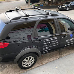 Envelopamento de veículo para empresa em São Paulo - Brasluna