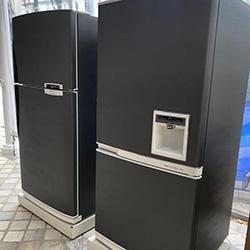 Envelopamento de geladeiras com aço escovado graphite - São Paulo