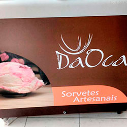 Envelopamento de freezer Horizontal com logomarca