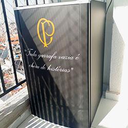 Envelopamento de frigobar Corinthians