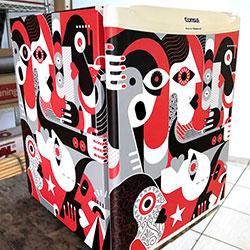 Envelopamento de frigobar com imagem em São Paulo