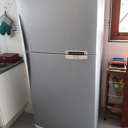 Envelopamento de geladeira com eço escovado em São Paulo