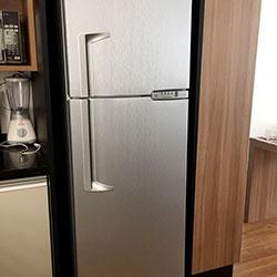 Envelopamento de geladeira Aço Escovado Inox
