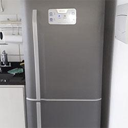 Envelopamento de geladeira com aço escovado Brushed Graphite - Freguesia do Ó - São Paulo - Z/O