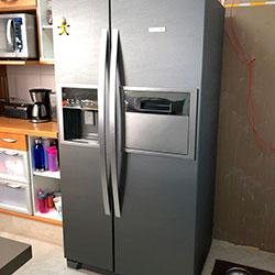 Envelopamento de geladeira Side by Side com Aço Escovado Brushed Graphite - Morumbi - SP