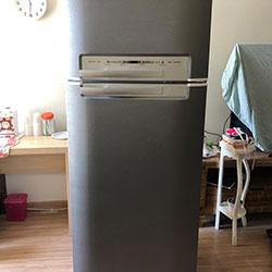 Envelopamento de geladeira com aço escovado Brushed Graphite