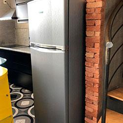 Envelopamento de geladeira com Aço Escovado - Alphaville - SP