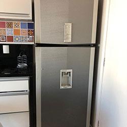 Envelopamento de geladeira aço escovado/inox - Vila Andrade - SP
