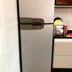 Envelopamento de geladeira com Aço Escovado - Vila Zat - São Paulo