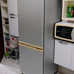 Envelopamento de geladeira com Aço Escovado - Zona Oeste - São Paulo