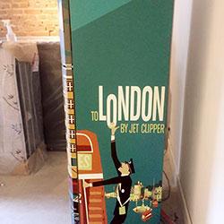 Envelopamento de geladeira com impressão - Amsterdam