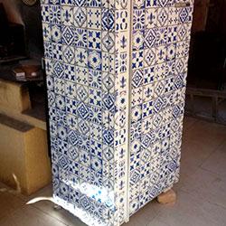 Envelopamento de geladeira com ajulejo português