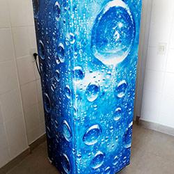 Envelopamento de geladeira de bolhas