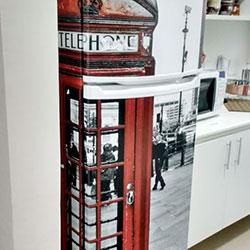 Envelopamento de geladeira com Cabine Inglesa