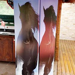 Envelopamento de geladeira com cavalo