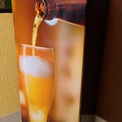 Envelopamento de Geladeira com Copo de Cerveja
