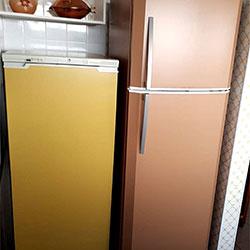 Envelopamento de geladeira com cor - Pantone