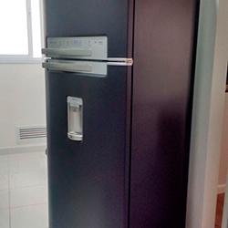 Envelopamento de geladeira em Preto Fosco em São Paulo