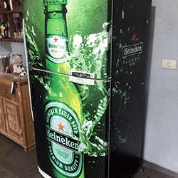 Envelopamento de Freezer Horizontalgeladeira - Heineken