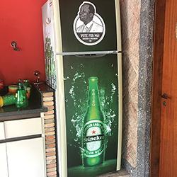 Envelopamento de Geladeira em São Paulo com Impressão Heineken