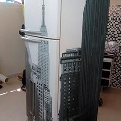 Envelopamento geladeira com imagem em São Paulo