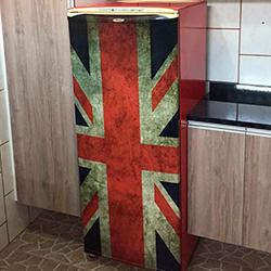 Envelopamento de geladeira com bandeira Inglaterra