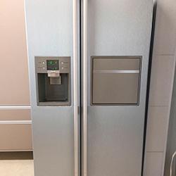 Envelopamento geladeira side by side cor inox