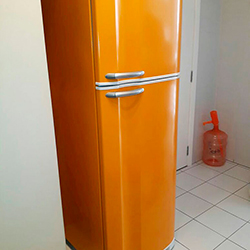 Envelopamento de geladeira Laranja - Cor de Abóbora