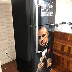 Envelopamento de geladeira com imagem - O Poderoso Chefão - São Paulo