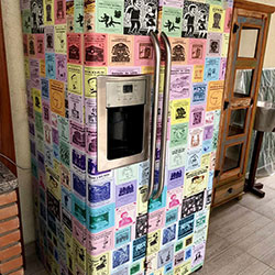 Envelopamento de geladeira com Side By Side com imagem - Pq. dos Príncipes - Osasco - São Paulo