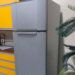 Envelopamento de geladeira prata/aço escovado em SP