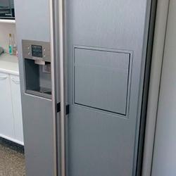 Envelopamento de geladeira Side by Side Aço Escovado em SP