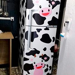 Envelopamento de geladeira de vaquinha