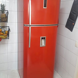 Envelopamento de geladeira com Vermelho - São Paulo