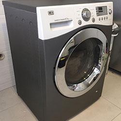 Envelopamento de máquina de lavar roupa com aço escovado cinza chumbo