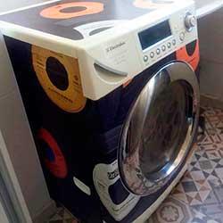Envelopamento de máquina de lavar roupa com imagem - Discos