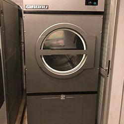 Envelopamento de máquina de lavar roupas de condomínio - Aço escovado Graphite
